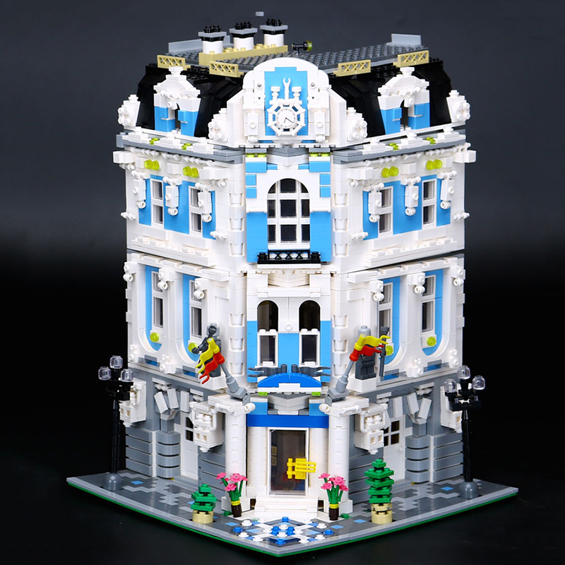 Lepin 15018 3196pcs New MOC City Series legoing The Sunshine Hotel Set Architecture Building Blocks Bricks Toys Children Gifts new lepin 23015 science and technology education toys 485pcs building blocks set classic pegasus toys children gifts