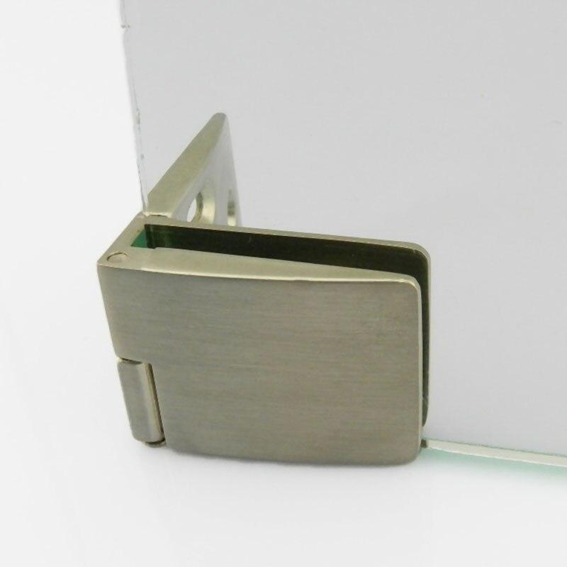 Brushed Silver Cabinet Glass Door Hinge Wine Cabinet Door Hinge