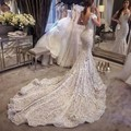 2017 Vintage Lace Mermaid Wedding Dresses Sexy V neck Backless Cap Sleeve Vestido De Noiva 2016 High Quality Wedding Gowns