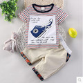 Infantil chicos algodón de manga corta traje de 2017 nuevos niños del verano en cortocircuito La Camiseta ocasional smal niños clothes1-4 año