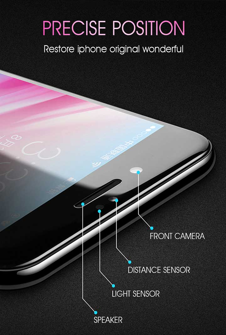 Suntaiho 10D protective glass for iPhone X XS 6 6S 7 8 plus glass screen protector for iPhone 7 6 X XR XS MAX screen protection 3