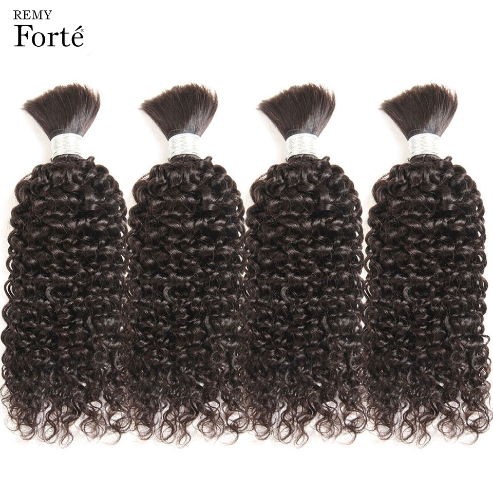 Remy Forte 30 Inch Brazilian Hair Weave Bundles Braids Bulk No Weft Bundles Deal Brazilian Curly Human Braiding Hair Bulk Women