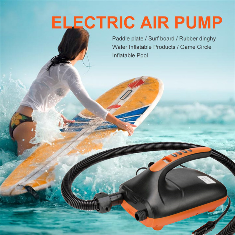 Electric Air Pump Intelligent 20PSI for Inflatable SUP Paddle Board 12V UK Q0D2