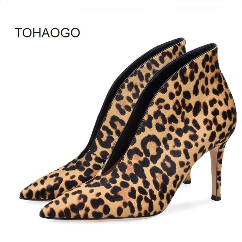 New winter Big size and high heel pointed head Fine heels Women Shoe leopard, wine red sexy party shoes Heels women pumps obuv pointed toe high heels nubuck leather winter deep mouth thin heel big size mature leopard print stilletos shoes for women