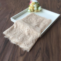 Light Nude   Lace   Fabric Patchwork Elastic stretch   Lace   Trimming DIY Garment Cloth