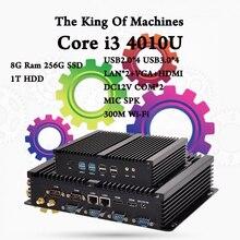 Мини-ПК 8 Г Ram 256 Г SSD 1 Т HDD Intel Core i3 4010U HTPC 2 * COM + HDMI + VGA + Wifi + Bluetooth DHL Бесплатная Доставка Маленький Компьютер компьютер