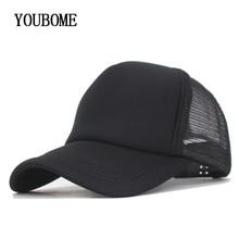 Youbome boné de beisebol dos homens marca plana snapback caps mulheres  chapéus para homens casquette osso 5 painel malha verão h. f428d1a73ab