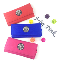 2016 brand women's fashion three original kipleds clutch long wallet thin nylon American Nina Blusas Estojo buckle 8 colors