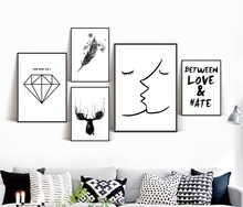 Nordic Scandinavian posters and Prints Wall Art Canvas Painting Print Wall Pictures For Living Room Unframed цена