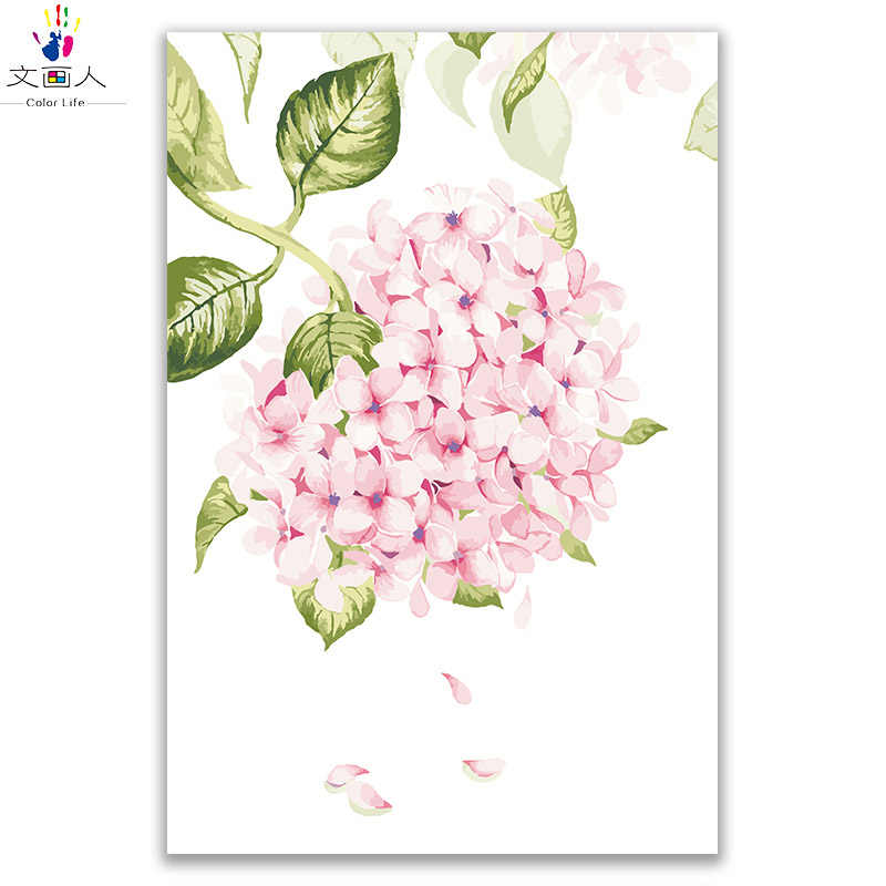 plant flower oil painting rose picture by numbers canvas draw coloring by numbers flowers with paint kits with frame wall decor