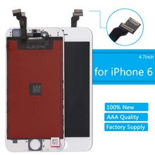 for iPhone 6 LCD Display Screen High Quality Digitizer Assembly 4.7 Replacement With Fame White Black