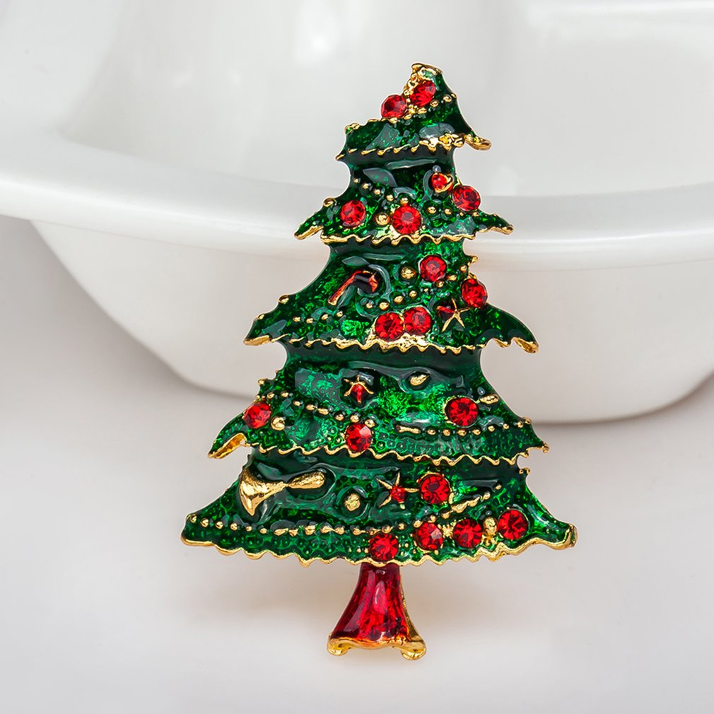 GENBOLI Female Brooch Delicate Christmas Tree Brooch Women Clothes ...