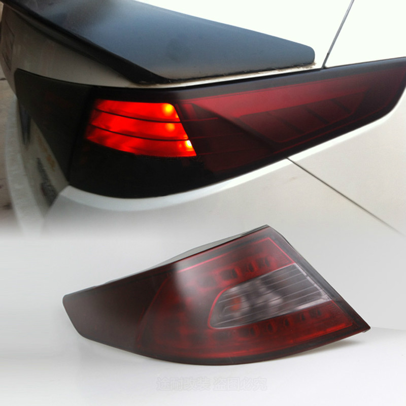 Araba-styling tonu far arka lambası işık duman şerit etiket Audi A3 A4 B6 B8 B7 B5 A6 C5 C6 q5 A5 Q7 TT A1 S3 S4 S5 S6 S8