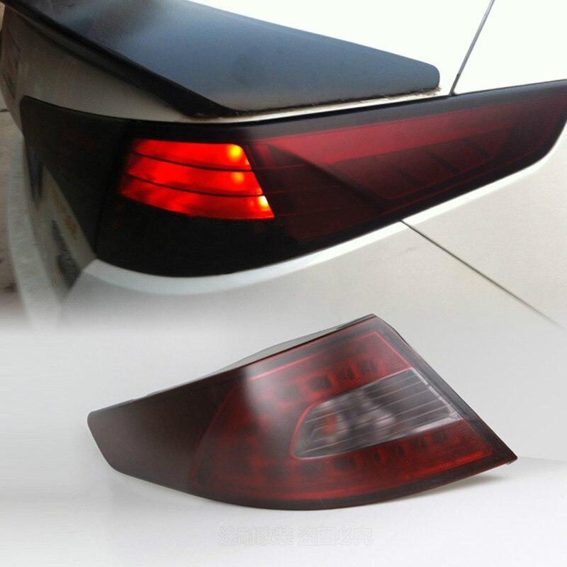 Voiture de coiffure Teinte Phare Feu Arrière Lumière Fumée Film Autocollant Pour Audi A3 A4 B6 B8 B7 B5 A6 C5 c6 Q5 A5 Q7 TT A1 S3 S4 S5 S6 S8