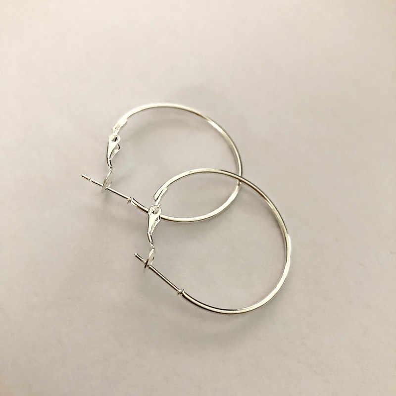 ต่างหูใหญ่เซ็กซี่อุปกรณ์ต่างหูแฟชั่นต่างหู Hoop Ear Loop Smooth Circle สำหรับผู้หญิงเครื่องประดับ