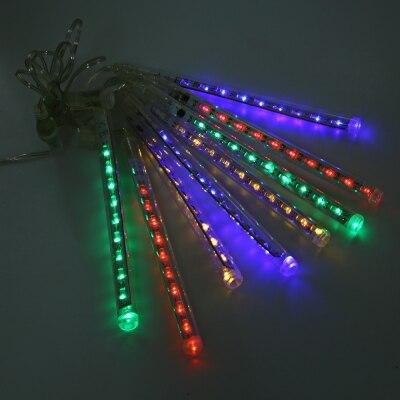 20 см LED Водонепроницаемый метеорный поток строка моросящего дождя трубки декоративные  ...