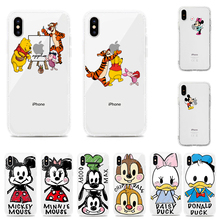Cute Disney Mickey Mouse Winnie the Pooh Cartoon Soft TPU Phone Case Cover For iphone XS MAX XR X 6s 7 8 Plus