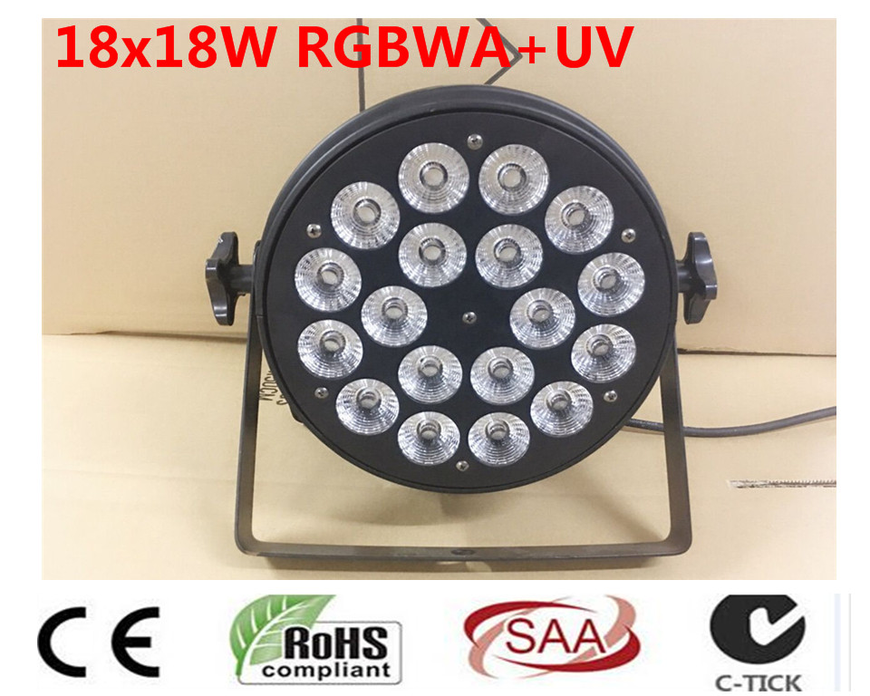 18x18 w 6in1 rgbwa + uv led par luce DJ Par Lattine In lega di Alluminio dmx 512 luce dmx dj wash lighting stage light