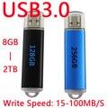 Быстрая Скорость Черный Синий Memoria USB Flash Drive 64 ГБ USB 3.0 Pen Drive 16 ГБ 64 ГБ 32 ГБ Памяти Жесткий Диск По Ключевым 1 ТБ 2 ТБ 128 ГБ