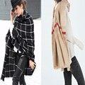 Одеяло кашемир Шарф для Женщин теплые платки и шарфы и палантины женские трикотажные пашмины дизайнер бренда Тартан-Клетчатая Шарф