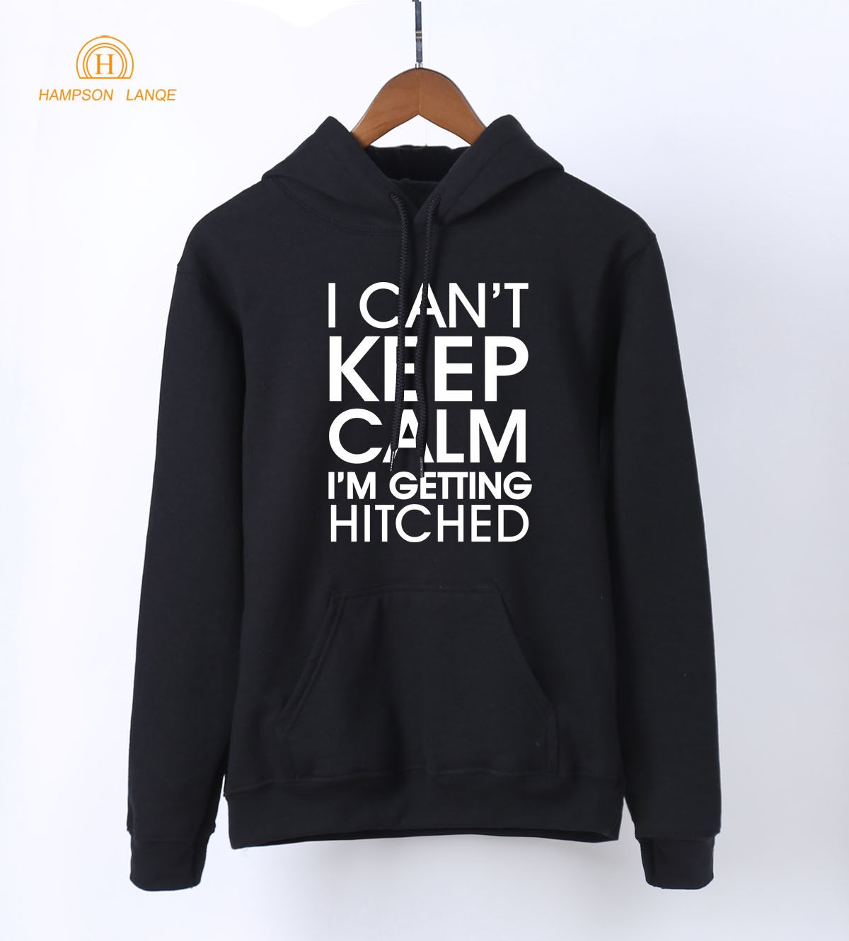 I Cant Keep Calm Im Getting Hitched Letters Print White Hoodies For Women 2018 Spring Autumn Sweatshirts Womens Warm Hoodie