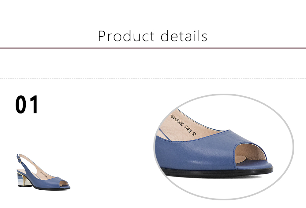 HTB1JzEJdpooBKNjSZPhq6A2CXXaK SOPHITINA Sandals Handmade Genuine Leather 2019 New Sexy Lady Peep Toe Sandals Square Heel Buckle Strap Classics Shoes Woman S22