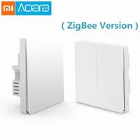 Original Xiaomi Aqara Smart Light Wall Switch ZigBee Version One Double Key Smartphone APP Phone Remote Control Home Device