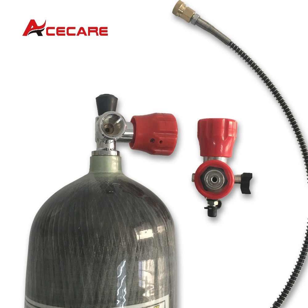 Tanque de fibra de carbono AC168101 Acecare 4500 psi 6.8LCE para juego de Paintball y tanque de Paintball o recarga de Rifle de aire-K triangulación de envío