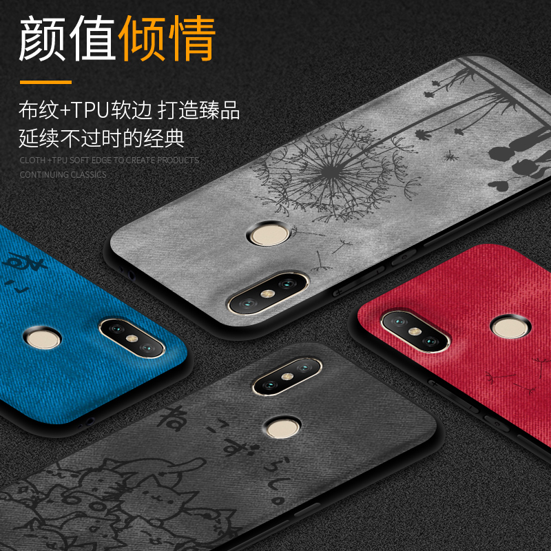 For Xiaomi Mi 8 Case Cloth Silicone Cover Xiomi Mi 8 Case Matte Animal Fundas Xioami Mi 8 Case For Xiaomi Mi 8 Mi8 Phone Cases