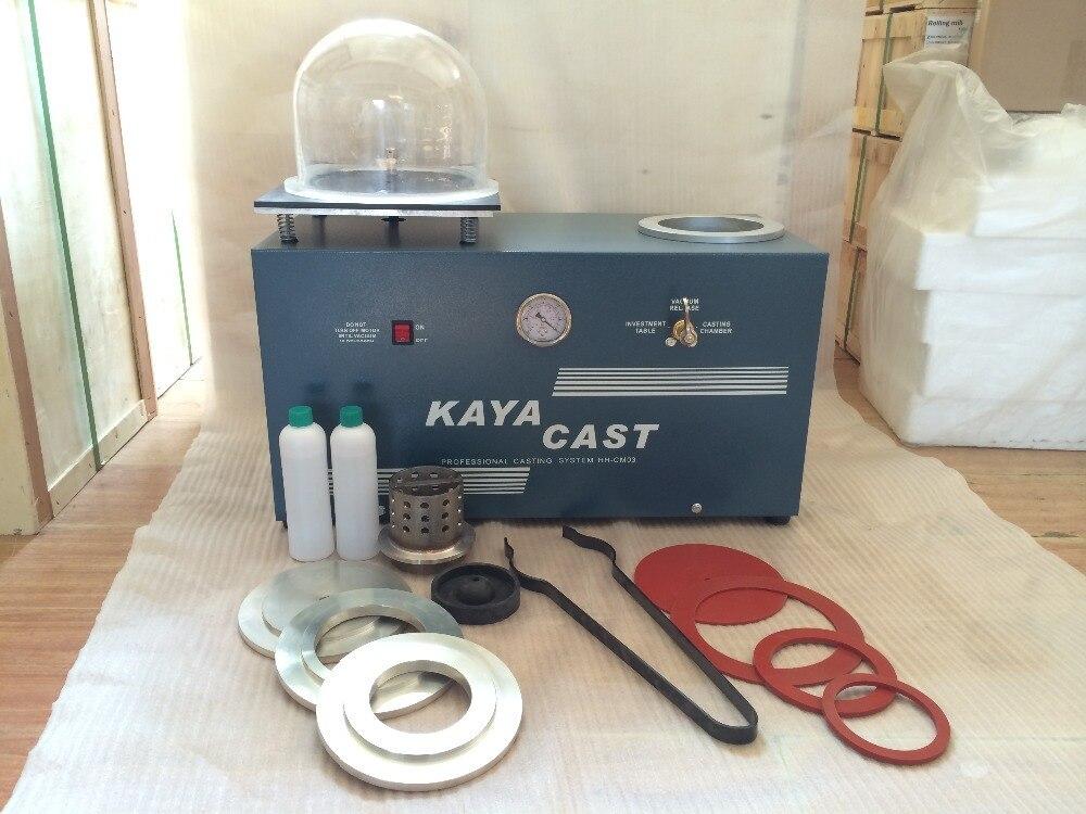 HH-CM03 Moyen Vide Investir et Coulée moule Machine, Mini bijoux cire or machine de coulée, Kaya gilet coulée machine
