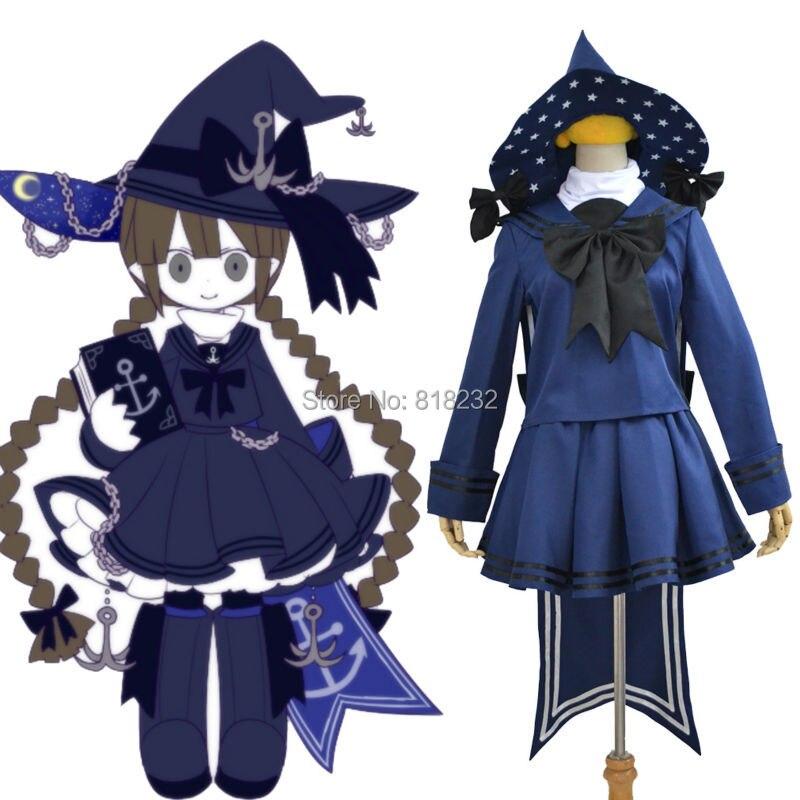 Wadanohara et la grande mer bleue costume de marin robe tenue uniforme Costumes Cosplay