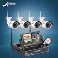 ANRAN Подключи и Играть Беспроводной NVR Комплект 7 Дюймов ЖК-Экран 1 ТБ HDD 720 P HD WI-FI Ip-камера Открытый ИК CCTV Камеры Безопасности Дома Системы