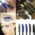 Newest Waterproof Blue Purple Black Brown Mascara Long Fiber Curl Eyelash Extension