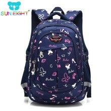 fc17a8cb0891f 17 inç Kelebek Baskı okul sırt çantası Kız okul sırt çantası Için Güzel  Shouler Çanta Çocuk Okul Çantaları Siyah