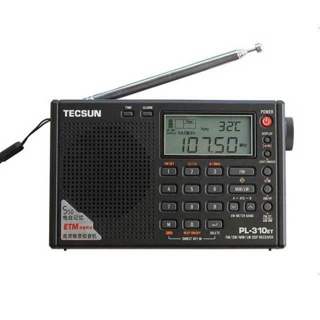 TECSUN PL-310ET Мир Full Band Коротковолновое РАДИО FM AM MW SW LW DSP Приемник Цифровой Демодуляции Стерео Портативный Радио-Часы