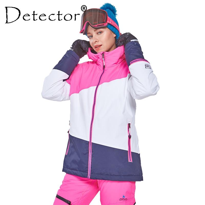 Detector Women's Winter Ski Snowboard Jacket Outdoor Ski Clothing Women Waterproof Windproof Coat Warm Clothes