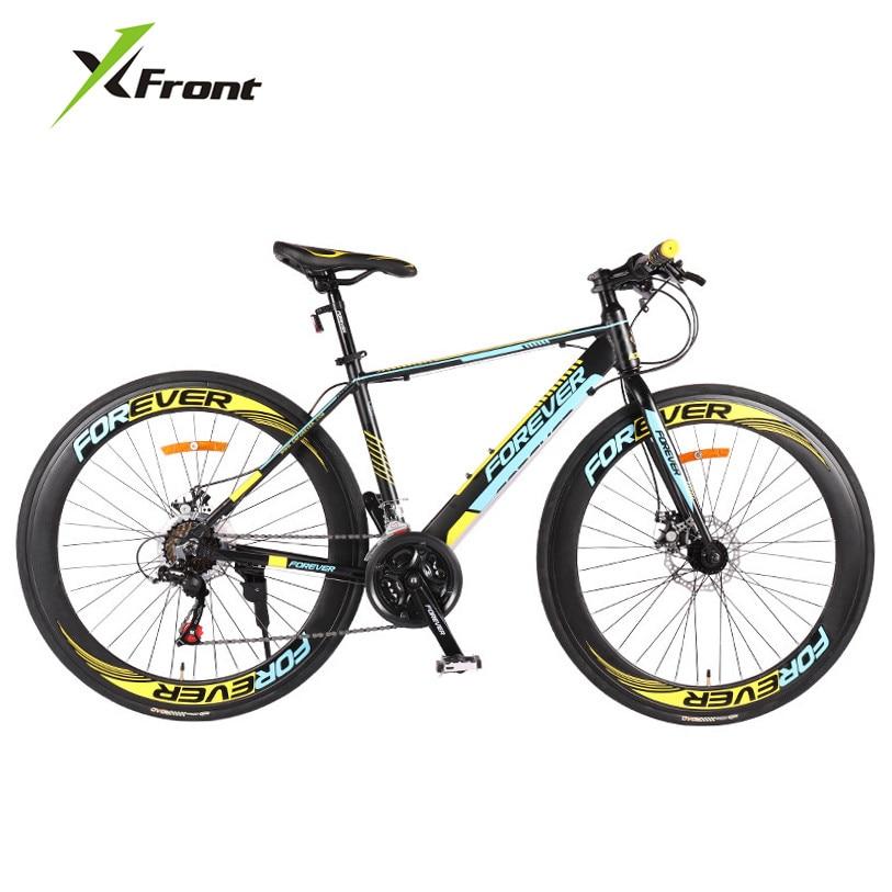 새로운 브랜드 알루미늄 합금 프레임 21 속도 700CC 디스크 브레이크 도로 자전거 야외 스포츠 bicicleta 경주 자전거 자전거