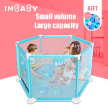 IMBABY Baby Ball Pool Dry Pool With Balls Pits Tent For Kids Children Pool Balls Baby Playpen Fence For 0-36 M Tollder Ballpit(China)