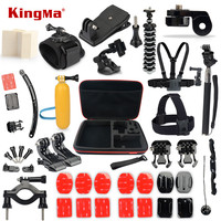 KingMa Gopro Accessories Kit For Gopro Hero 4 3 3 2 1 SJCAM M10 SJ4000 SJ5000