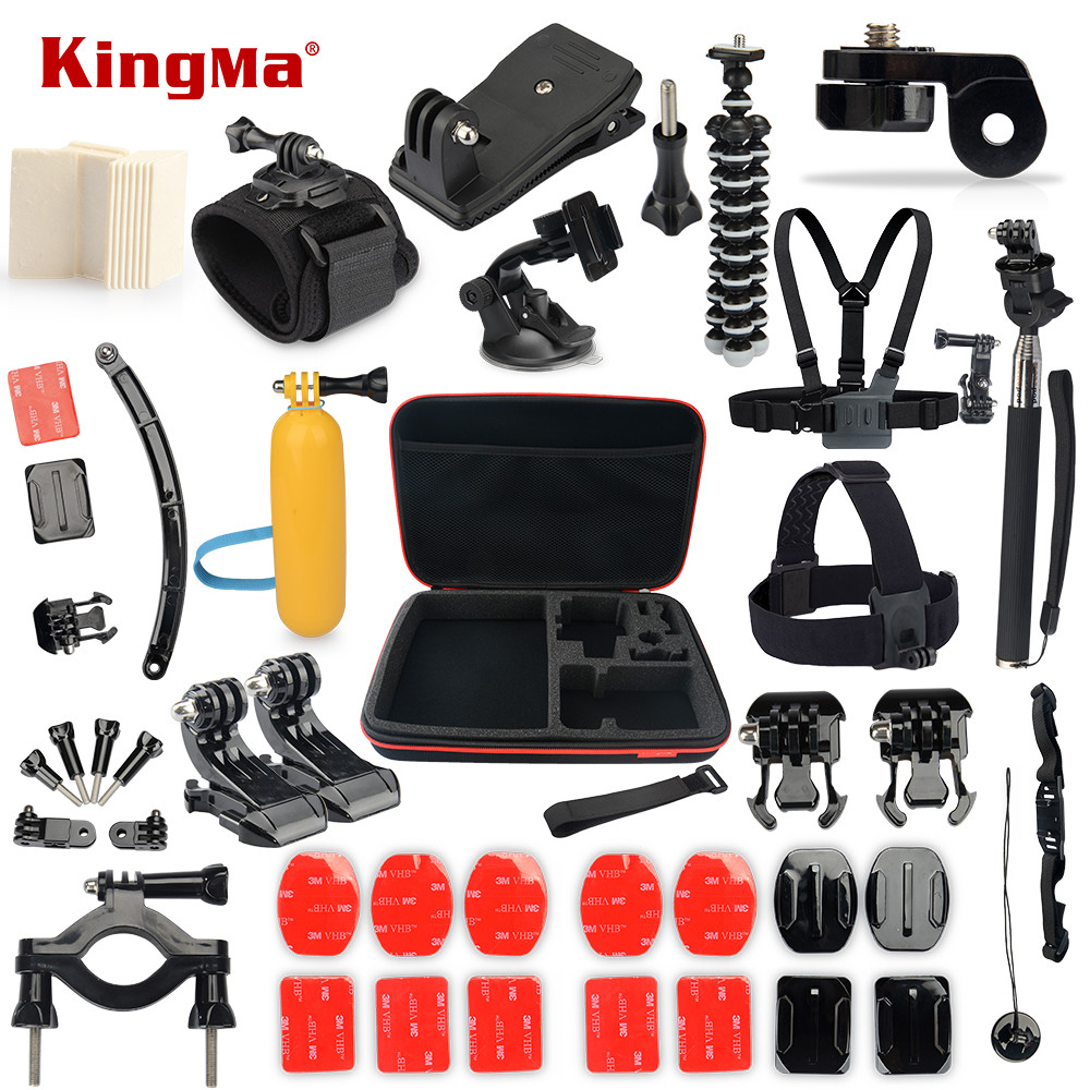 KingMa FOR Gopro hero 5 Accessories kit for gopro hero 4 3+ 3 SJCAM M10 SJ4000 SJ5000 SJ7000 Xiaomi yi sjcam Accessories sets
