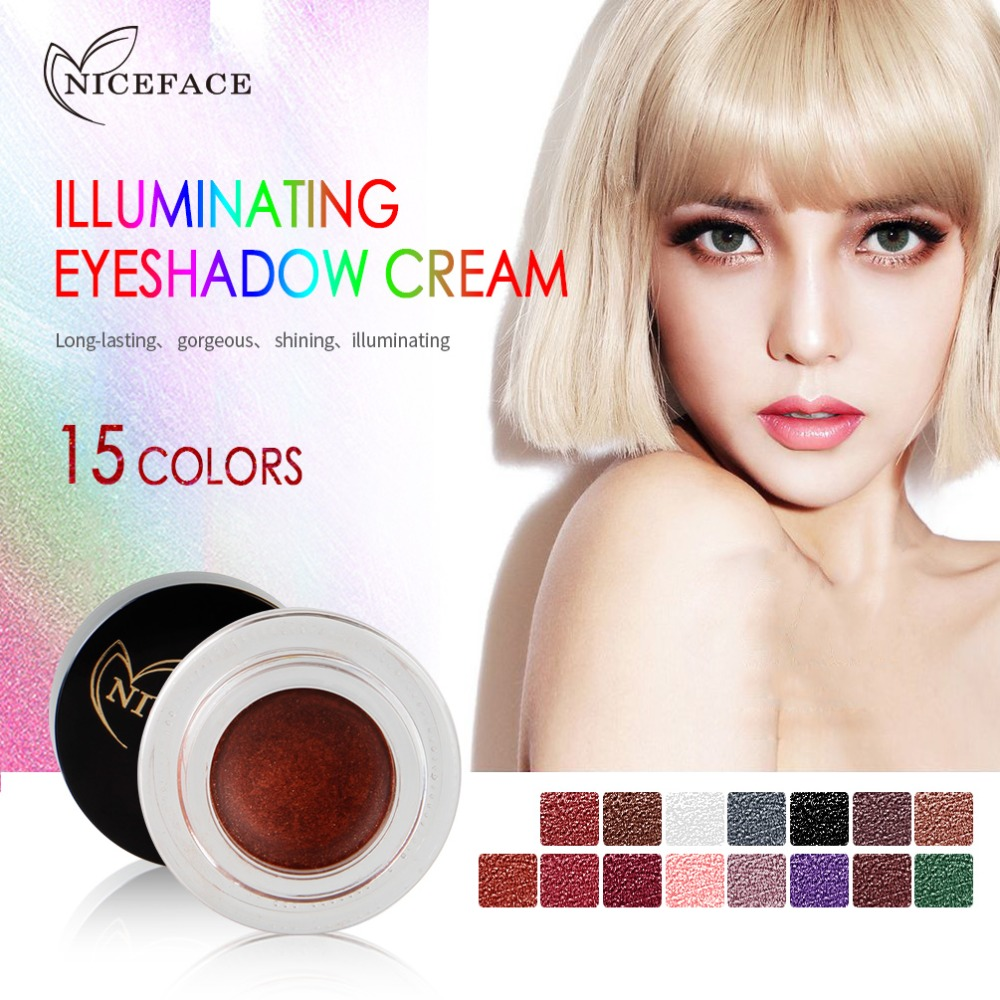 Beauty & Health Beauty Essentials Niceface Single Color Shimmer Eyeshadow Cream Waterproof Long Lasting White Eye Liner Gel Black Blue Highlighter Cream Ae050