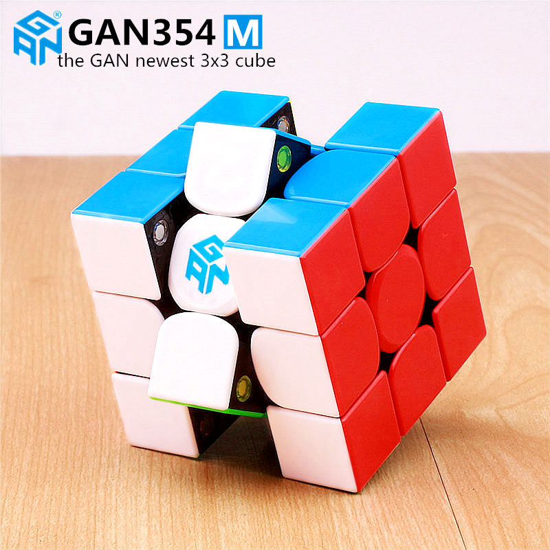Gan 354 M Magnetic puzzle magic speed cube 3x3 sticker less professional Gan354 M magnets speed cubo magico GAN354M toys for kid