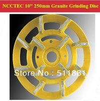 [2nd step] 10'' Metal Bond Diamond Granite Slabs Grinding Disc | 250mm grit 200# granite abrasive wheel | 12 segments iron base