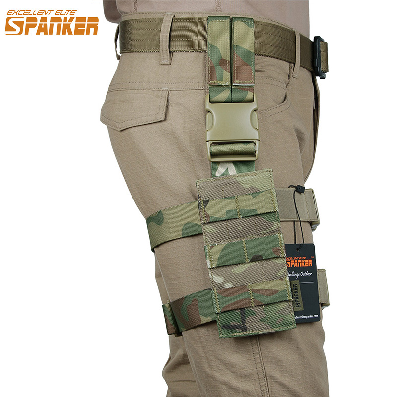 EXCELLENT ELITE SPANKER Outdoor Tactical Molle Mini leg Hanging Plate Military Equipment Hunting Wearable Nylon Panel Accessory