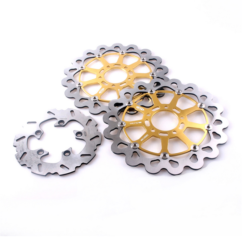 Motorcycle Front Rear Brake Disc Rotors Set for Suzuki TL1000R GSXR 600 750 TL1000S GSXR600 GSXR750 Floating Gold motorcycle rear brake disc rotors for suzuki gsx1300r 08 15 correspondence year universal