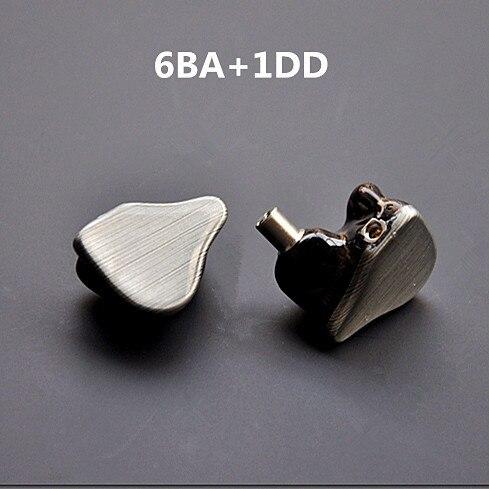 スーパーオーディオ6BA + 1DDカスタムメイド7単位バランスアーマチュアとダイナミック耳イヤホンでmmcxインターフェース