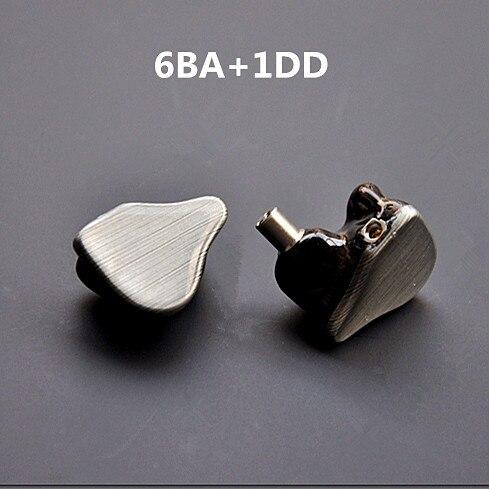 bilder für Super Audio 6BA + 1DD Nach Maß 7 Einheiten Ausgewogene Anker Und Dynamische Ohr Kopfhörer Mit MMCX Schnittstelle
