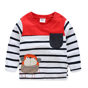 2-6T boy Tshirt with special price European children's wear T-shirts cotton long sleeve for baby boy