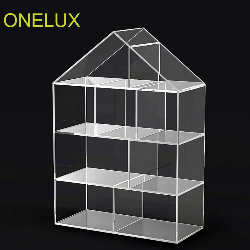Floor Stand House Shaped Clear Acrylic Bookcasecustom Lucite Bookshelvesdisplay Shelves W D H Cm In Bookcases From Furniture On Aliexpress Com