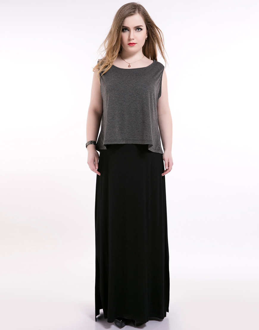 ᑐcute Ann Women S Sexy Sleeveless Plus Size Casual Dress Long Maxi
